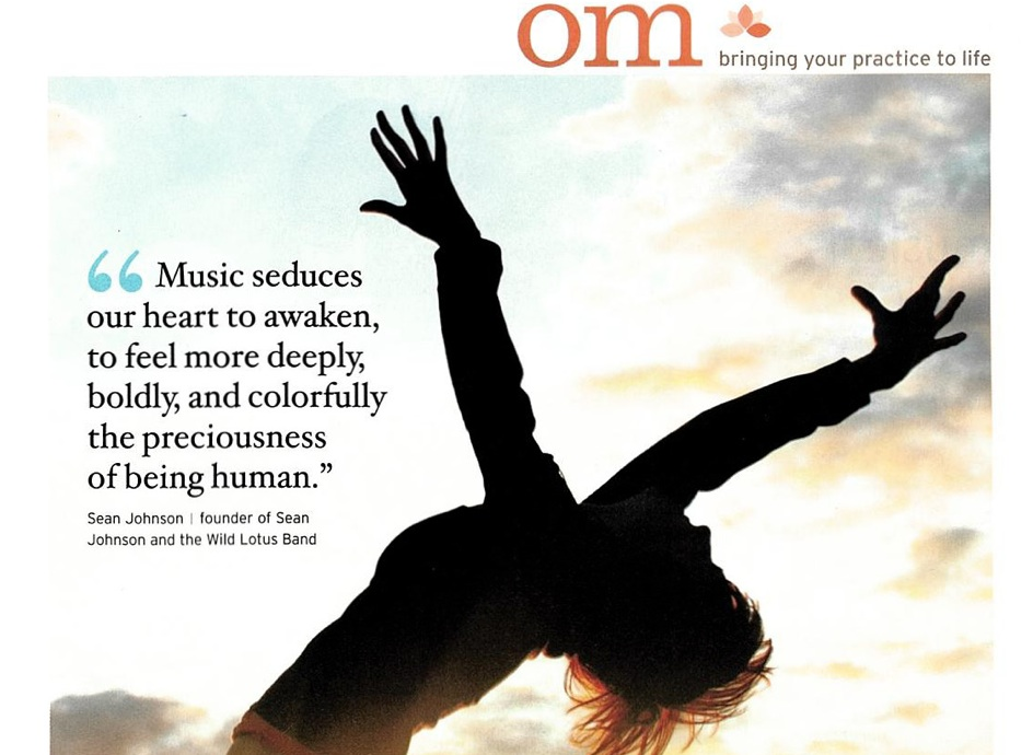 Yoga Journal Om Page- Sean On The Power Of Music